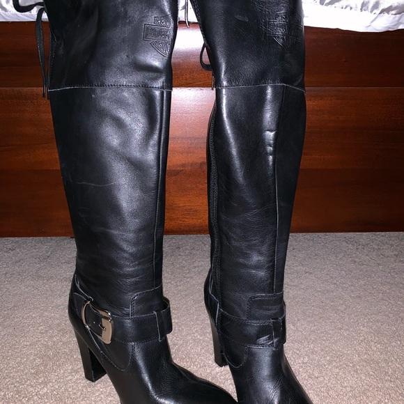 2ba9def7281 Harley-Davidson Shoes - Harley Davidson knee high heeled riding boots